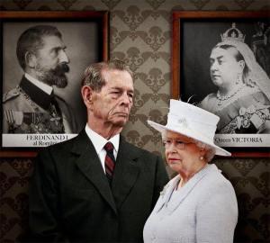 Regele Mihai si Regina Elisabeta a II a A MB